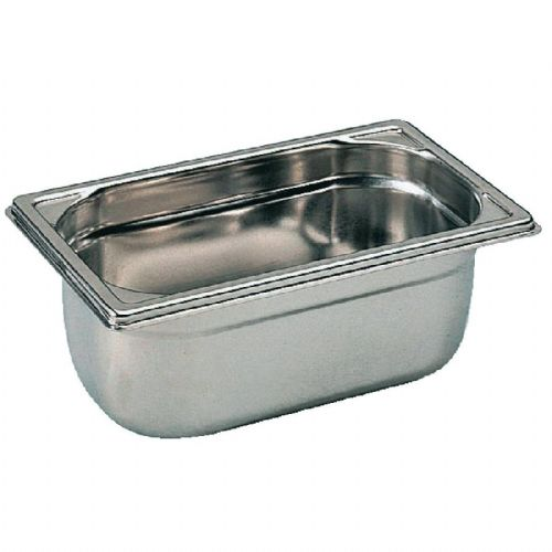 Premier Stainless Steel Gastronorm Pan - 1/4 Quarter Size. 6.5cm